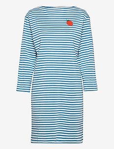 NAUTTIA MANSIKKA PLACEMENT DRESS - summer dresses - off white, blue