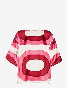 SILEÄ MELOONI SHIRT - kortærmede bluser - red, pink, beige