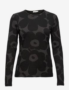 HIILI PIENI UNIKKO SHIRT - langärmlige tops - dark grey, black