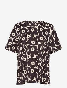KAUTTA MINI UNIKKO T-SHIRT - t-shirts - light beige, dark brown