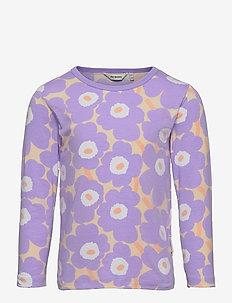 OULI MINI UNIKOT - langærmede t-shirts - light yellowish, lavender
