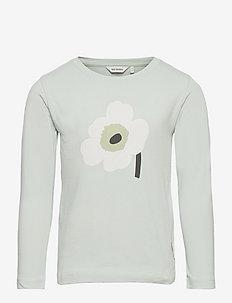 OULI UNIKKO PLACEMENT - langærmede t-shirts - light blue, off white, light green