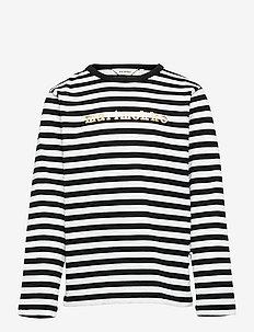 VEDE TASARAITA 2 - langærmede t-shirts - black, white, gold