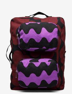 KUIKKA BACKPACK - rygsække - brown,black,purple