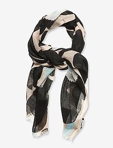 FIORE PIENI UNIKKO SCARF - tørklæder - off-white, black, blue