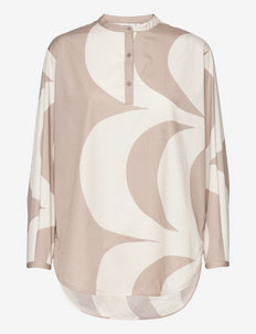 HAAPA KAIVO SHIRT - blouses met lange mouwen - light beige, beige