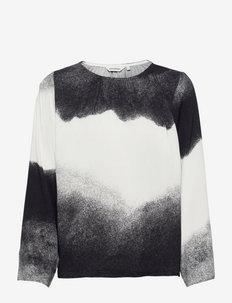POLULLA PILVI SHIRT - langärmlige tops - off-white, black