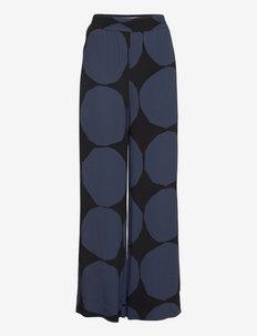 KULKEVILLE KIVET TROUSERS - uitlopende broeken - dark blue, black
