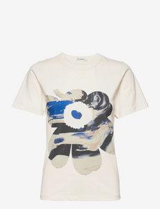 HYVIKE MAISEMA UNIKKO T-SHIRT - t-shirts - off white, blues, beiges