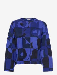 LETOT RUUTU-UNIKKO SHIRT - blouses met lange mouwen - blues, black