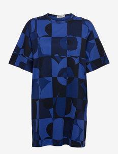 LOIVA RUUTU-UNIKKO DRESS - tshirt jurken - blues, black