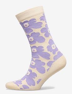HIETA UNIKKO SOCKS - sokker - lavender, light beige