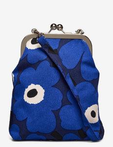 AINIKKI MINI UNIKKO SHOULDER BAG - crossbody bags - dark blue,blue,off white