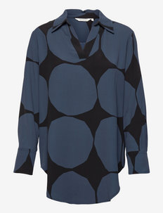 OHIKULKEVA KIVET SHIRT - pitkähihaiset paidat - dark blue, black