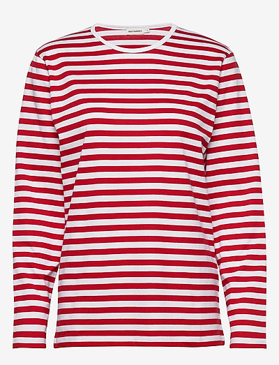 Pitkähiha shirt - langærmede toppe - white, red