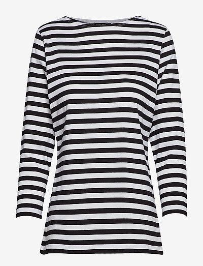 Ilma shirt - langærmede toppe - white, black