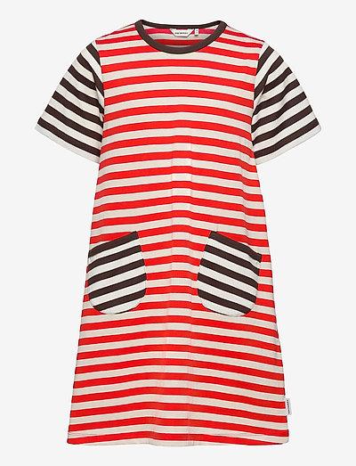 AHDE TASARAITA DRESS - kjoler - orange red, light beige