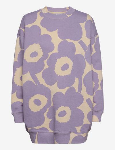 HUHTASINI UNIKKO SWEATSHIRT - sweatshirts - light beige, lavender