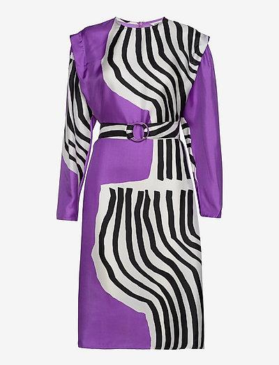 RAUTIAS VUOLU DRESS - cocktailkjoler - violet, off-white, black
