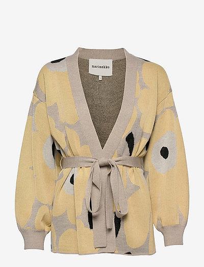 UNEKSUVA UNIKKO CARDIGAN - cardigans - beige,light yellow,black