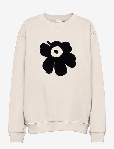 JUOMU UNIKKO PLACEMENT SWEATSHIRT - sweatshirts - light beige, black