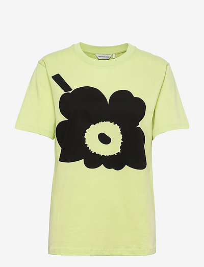 HIEKKA UNIKKO PLACEMENT T-SHIRT - t-shirts - light green, black