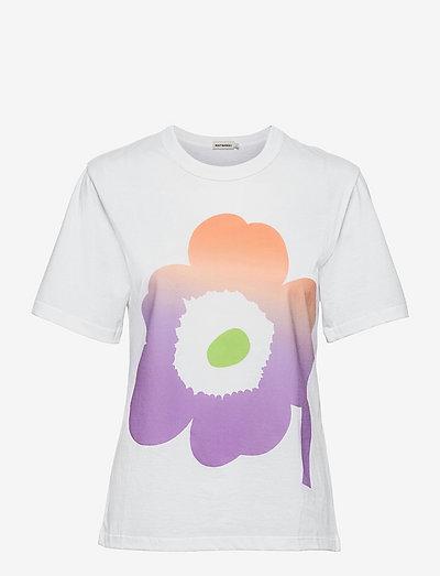 KAPINA UNIKKO T-SHIRT - t-shirts - off white, green, violet