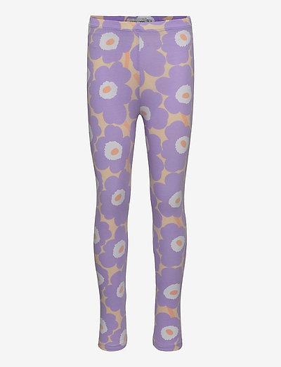 LAIRI MINI UNIKOT - leggingsit - light yellowish, lavender
