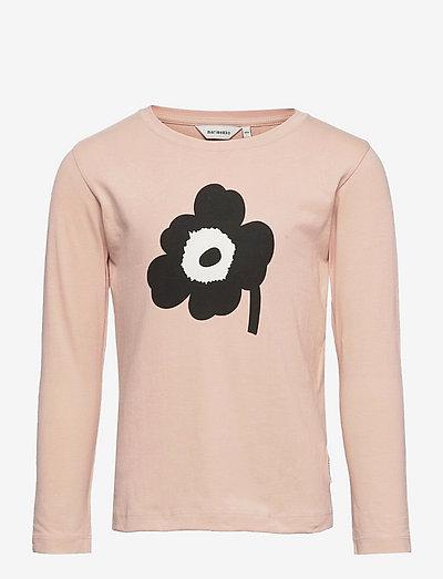 OULI UNIKKO PLACEMENT - pitkähihaiset paidat - light peach, black, off white