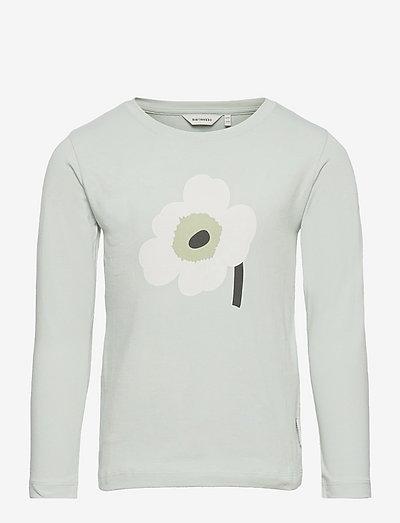 OULI UNIKKO PLACEMENT - pitkähihaiset paidat - light blue, off white, light green