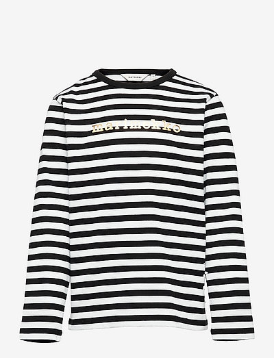 VEDE TASARAITA 2 - pitkähihaiset paidat - black, white, gold