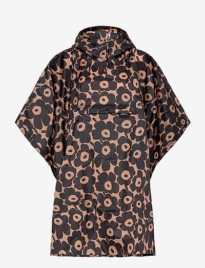 RAIN PONCHO PIKKUINEN UNIKKO - regnjakker - brown, black
