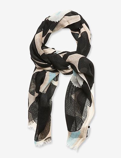 FIORE PIENI UNIKKO SCARF - tynde tørklæder - off-white, black, blue
