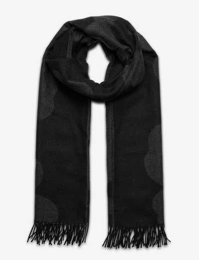 SUE JACQUARD JUHLA-UNIKKO SCARF - halstørklæder - black, grey