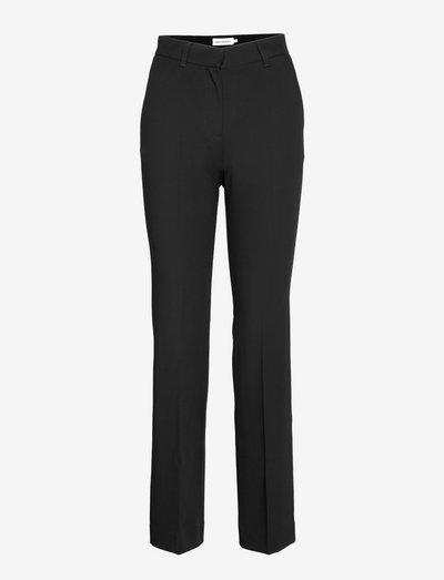 ILLANSUU TROUSERS - bukser med lige ben - black