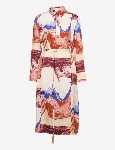 KAJASTUS PAUHU DRESS - sommerkleider - blue, brown, beige