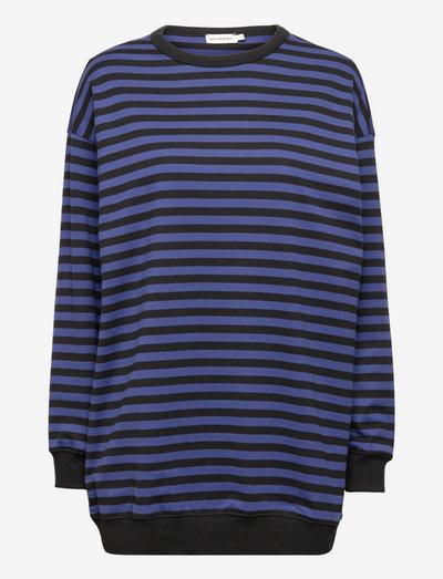 JUURET TASARAITA TUNIC - sweatshirts - black, blue