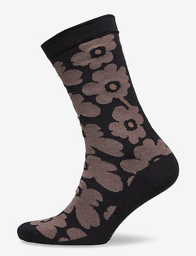 HIETA UNIKKO SOCKS - almindelige strømper - black, brown
