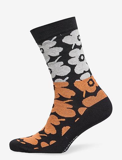 SALLA UNIKKO MIX SOCKS - almindelige strømper - black, orange, off white