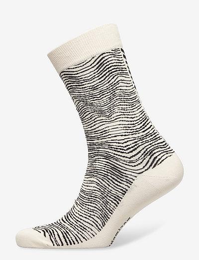 SALLA SILKKIKUIKKA SOCKS - almindelige strømper - black, off white