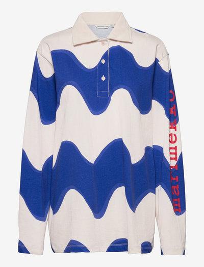 RINNEHOPEA LOKKI SHIRT - poloskjorter - off white, blue