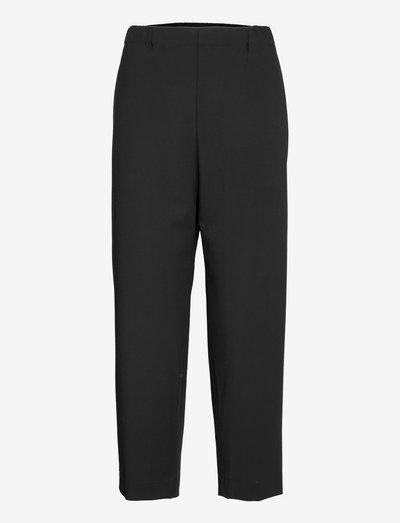 PONTEVA TROUSERS - bukser med lige ben - black
