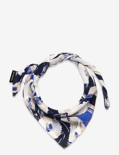 PÄIVÄNKUKKIA MAISEMA-UNIKKO SCARF - tynde tørklæder - blue, off white, beige
