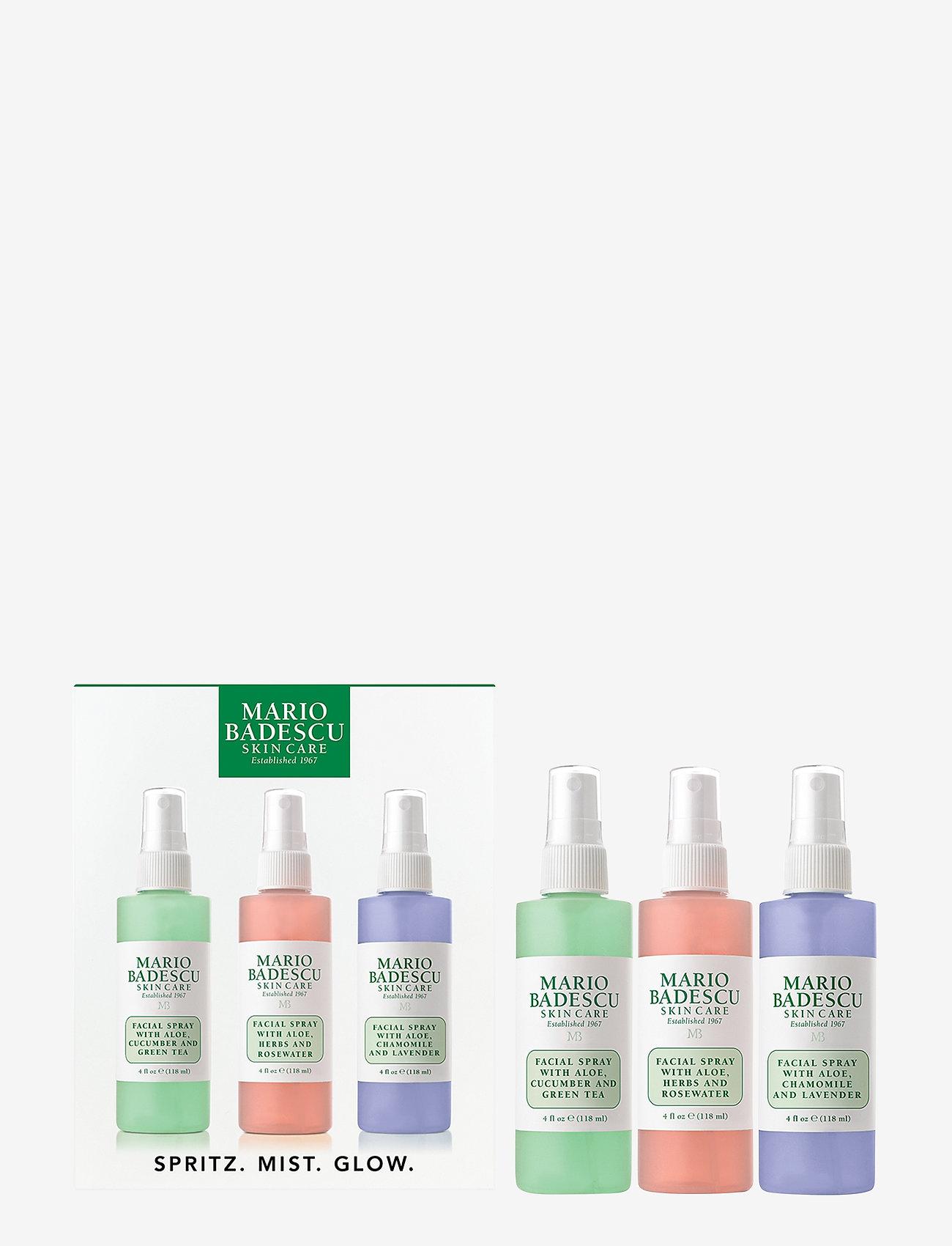 Mario Badescu - Mario Badescu Spritz.Mist.Glow Kit 3x118ml - setting spray - clear - 0