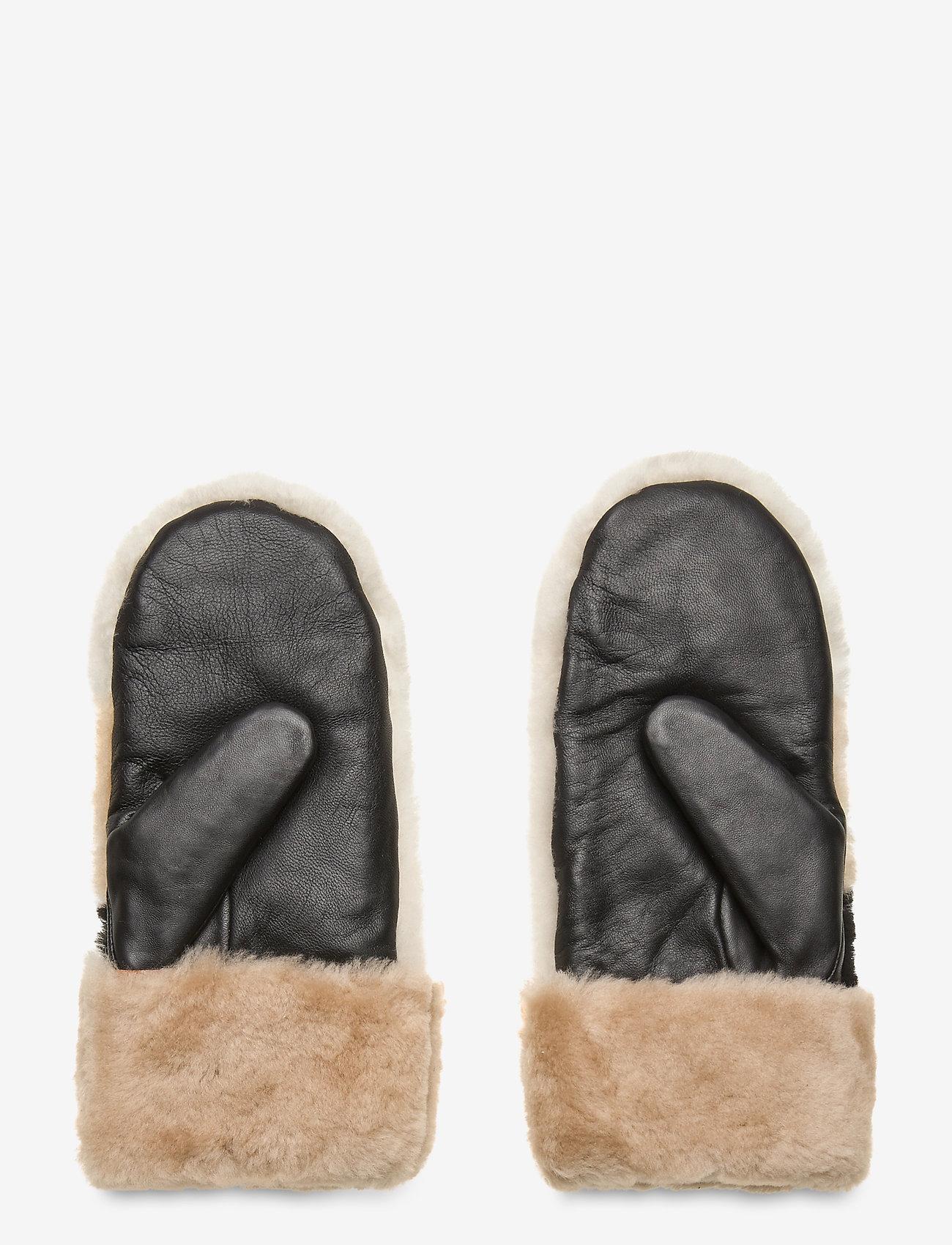 Markberg - Catelyn Mitten - gants - black w/offw.+caramel+bl. - 1