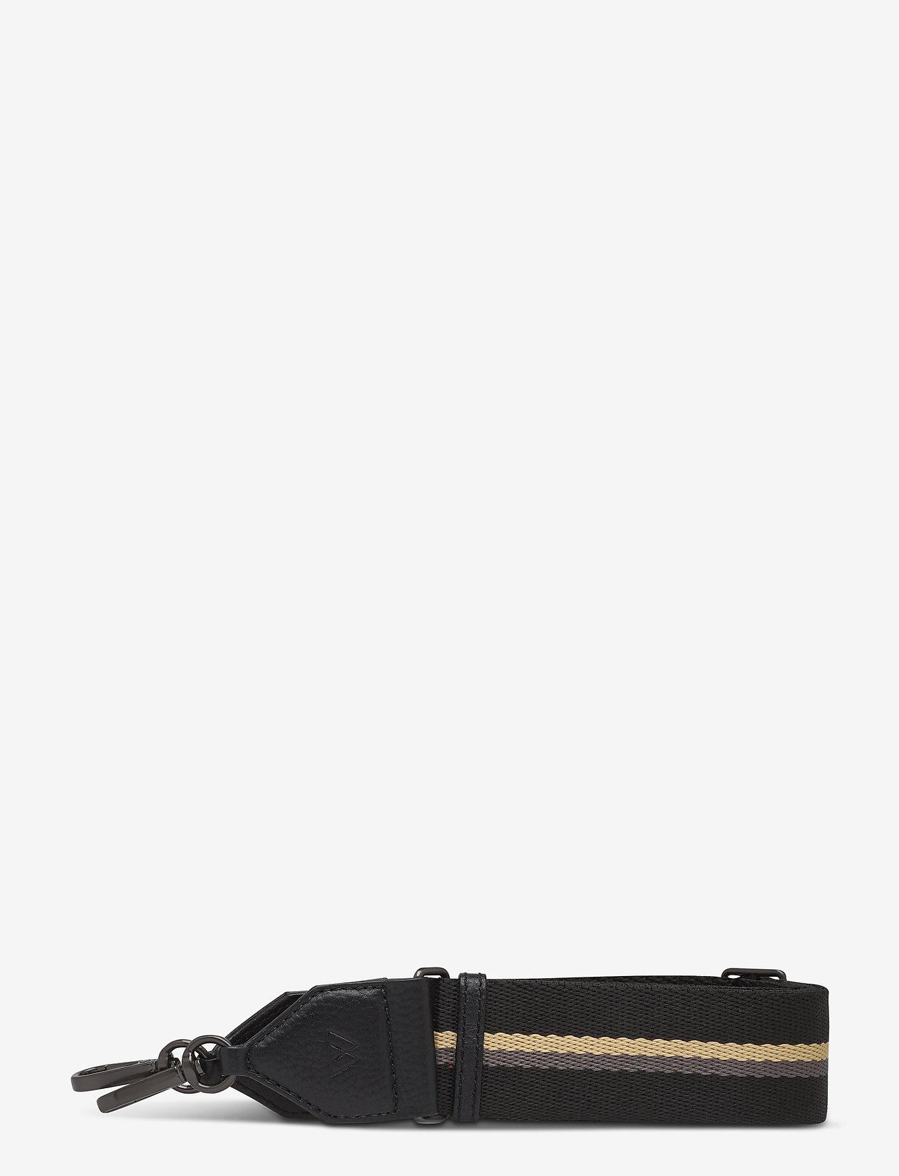 Markberg - Finley Guitar Strap, Striped - sale - black w/black+grey+sorbet - 0