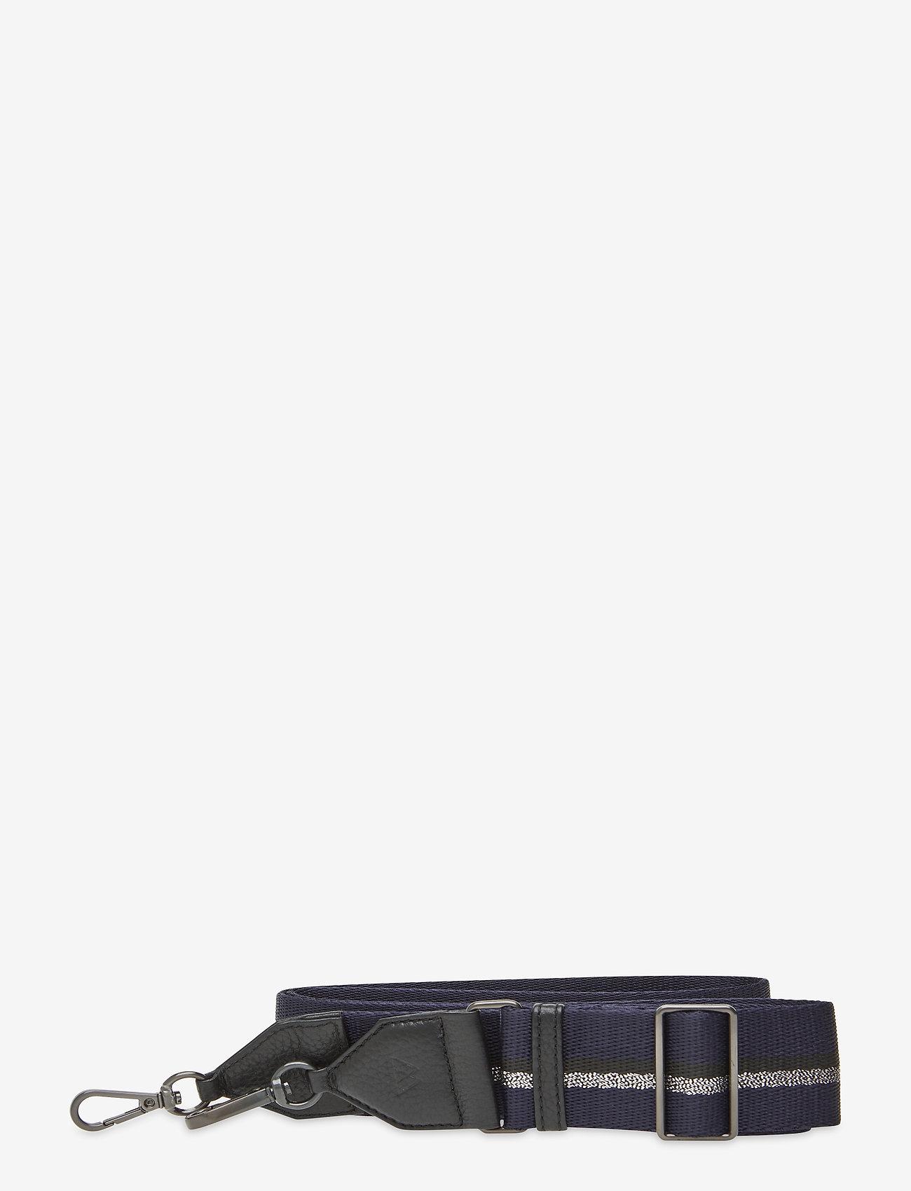 Markberg - Finley Guitar Strap, Striped - laukun hihnat - black w/navy+bl.+gunmetal - 0