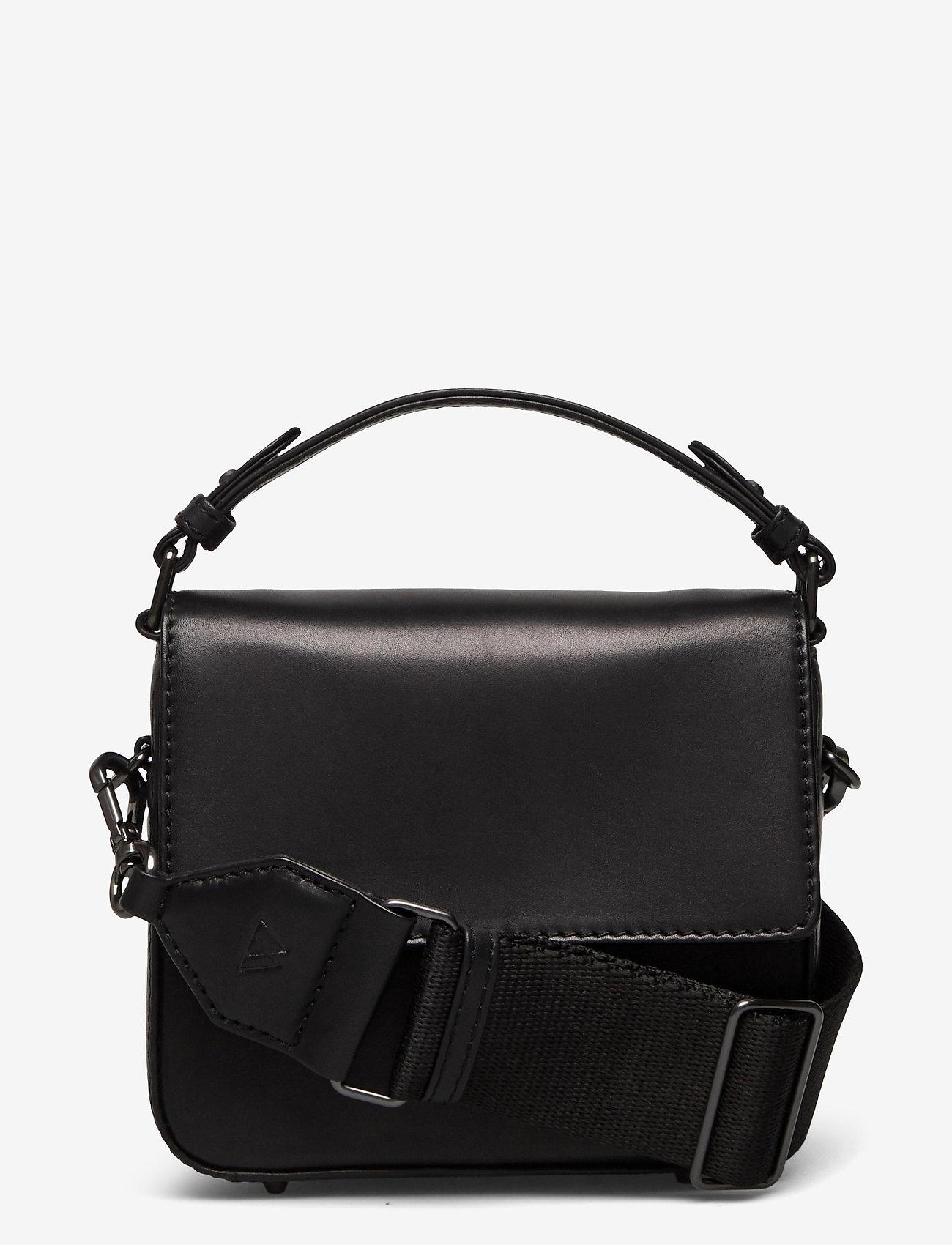 Markberg - Adora Small Crossbody Bag, Ant - väskor - black w/black - 0