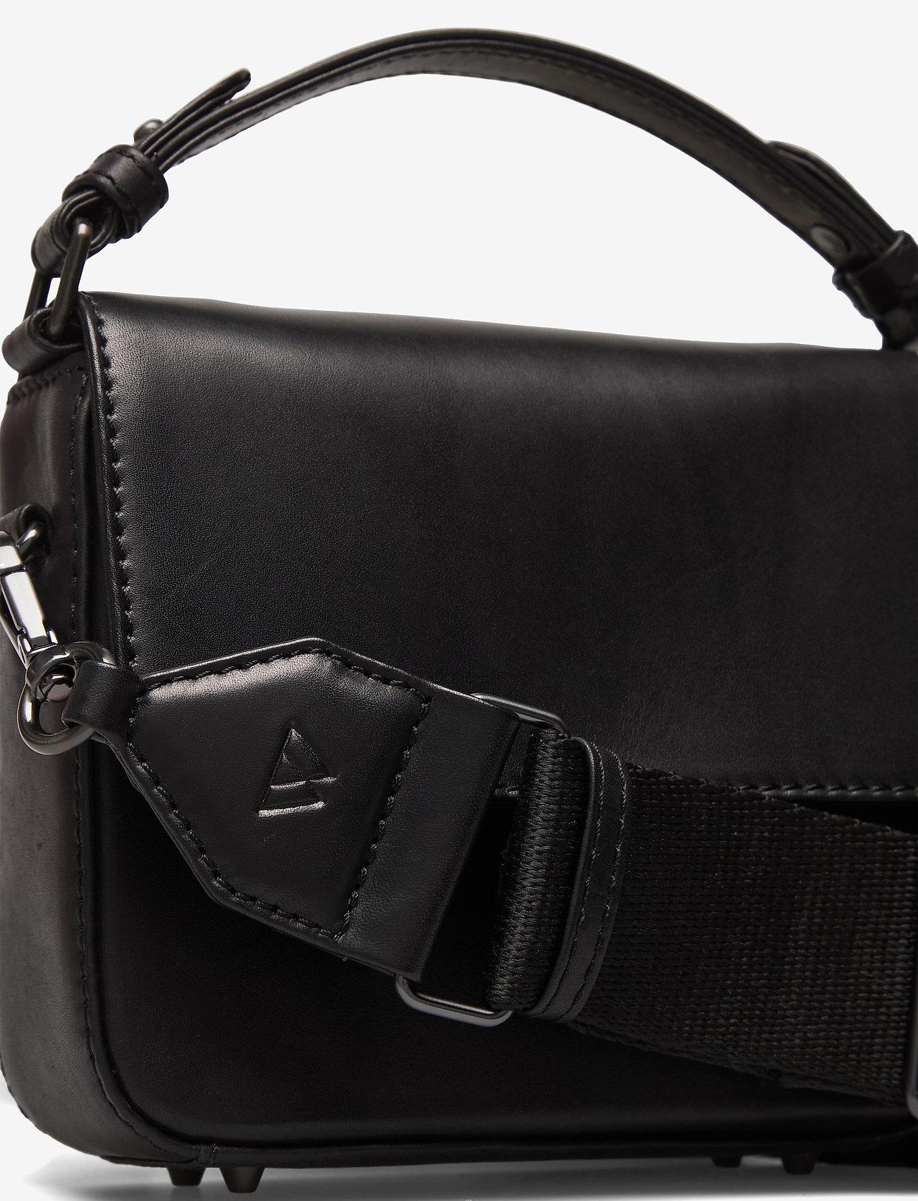 Markberg - Adora Small Crossbody Bag, Ant - väskor - black w/black - 3