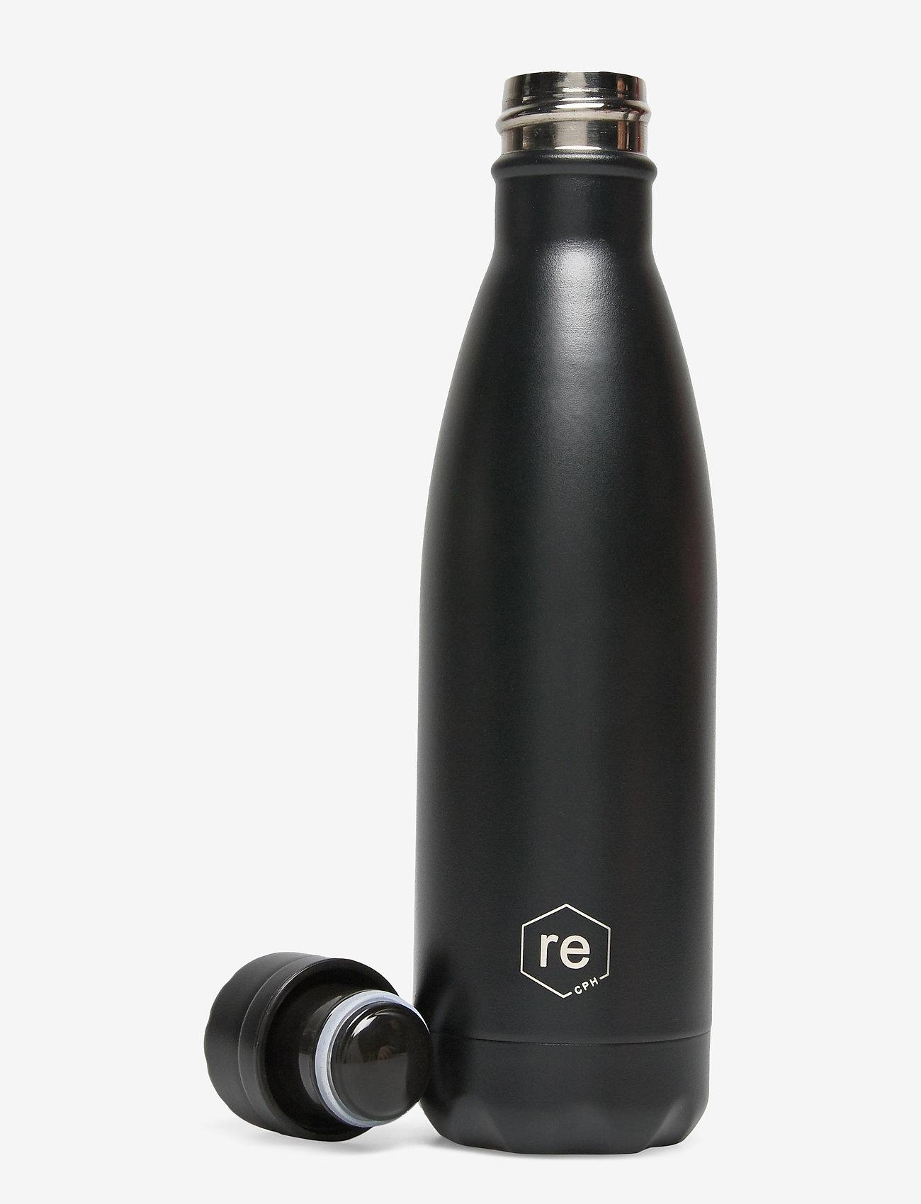 Markberg - Rebottle 500 ml, Powder Coat - black w/black lid - 1